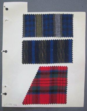 Fab-Tex Inc.. Fabric Swatch, 1963-1966. Cotton, sheet: 8 1/4 x 10 1/2 in. (21 x 26.7 cm). Brooklyn Museum, Gift of Fab-Tex Inc., 67.158.46