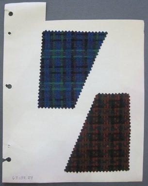 Fab-Tex Inc.. Fabric Swatch, 1963-1966. Wool, sheet: 8 1/4 x 10 1/2 in. (21 x 26.7 cm). Brooklyn Museum, Gift of Fab-Tex Inc., 67.158.59