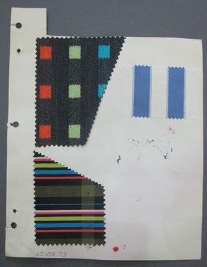 Fab-Tex Inc.. Fabric Swatch, 1963-1966. Cotton and silk, sheet: 8 1/4 x 10 1/2 in. (21 x 26.7 cm). Brooklyn Museum, Gift of Fab-Tex Inc., 67.158.73