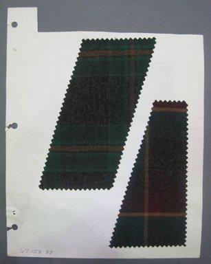 Fab-Tex Inc.. Fabric Swatch, 1963-1966. Wool, sheet: 8 1/4 x 10 1/2 in. (21 x 26.7 cm). Brooklyn Museum, Gift of Fab-Tex Inc., 67.158.87