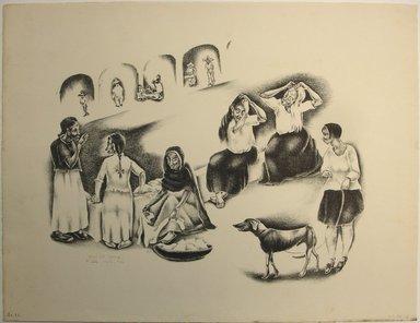 George Biddle (American, 1885-1973). Washtub Gossip, 1928. Lithograph, 12 x 15 3/4 in. (30.5 x 40 cm). Brooklyn Museum, Gift of George Biddle, 67.185.13. © Estate of George Biddle