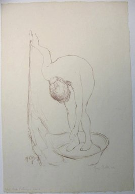 George Biddle (American, 1885-1973). Nude Bathing, 1917. Lithograph, 13 1/2 x 8 1/2 in. (34.3 x 21.6 cm). Brooklyn Museum, Gift of George Biddle, 67.185.2. © Estate of George Biddle