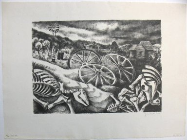 George Biddle (American, 1885-1973). Sand!, 1936. Lithograph, 10 x 13 7/8 in. (25.4 x 35.2 cm). Brooklyn Museum, Gift of George Biddle, 67.185.30. © Estate of George Biddle