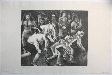 George Biddle (American, 1885-1973). Buffalo Dance, 1937. Lithograph, 10 x 12 in. (25.4 x 30.5 cm). Brooklyn Museum, Gift of George Biddle, 67.185.34. © Estate of George Biddle