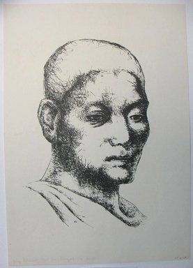 George Biddle (American, 1885-1973). Young Buddhist Priest From Bangkok. Lithograph, 14 3/8 x 9 3/4 in. (36.5 x 24.8 cm). Brooklyn Museum, Gift of George Biddle, 67.185.69. © Estate of George Biddle