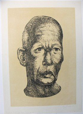 George Biddle (American, 1885-1973). Buddhist Priest From Ceylon, 1959. Lithograph, 17 1/8 x 11 5/8 in. (43.5 x 29.5 cm). Brooklyn Museum, Gift of George Biddle, 67.185.71. © Estate of George Biddle