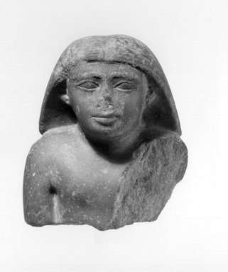 Bust of a Man. Quartzite, 4 3/4 x 3 15/16 x 2 7/8 in. (12 x 10 x 7.3 cm). Brooklyn Museum, Charles Edwin Wilbour Fund, 67.69.1. Creative Commons-BY
