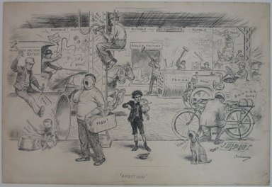Charles W. Kahles (American, 1878-1931). Ambition, 1914. Ink over graphite on paper, Sheet: 15 1/16 x 22 1/8 in. (38.3 x 56.2 cm). Brooklyn Museum, Gift of Mrs. C. Herbert Straut, 68.61.1