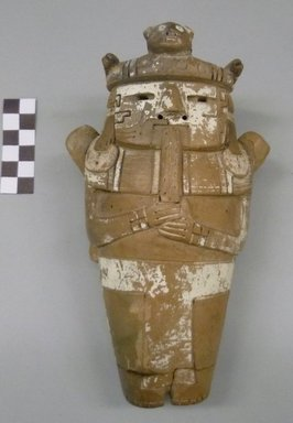 Late Chavin. Hollow Figure of a Dignitary Holding a Flute, 700 to 400 B.C.E. Ceramic, pigment, 8 x 4 1/2 x 3 1/2 in. (20.3 x 11.4 x 8.9 cm). Brooklyn Museum, Gift of The Roebling Society, 68.97. Creative Commons-BY