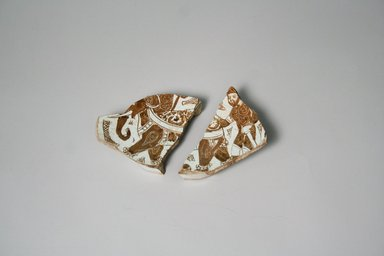 Fragment of Bowl, 12th century. Tin, 5 1/4 x 3 x 3 11/16 in. (13.3 x 7.6 x 9.3 cm). Brooklyn Museum, Henry L. Batterman Fund, A. Augustus Healy Fund, Frank Sherman Benson Fund and Ella C. Woodward Memorial Fund, 69.122.1. Creative Commons-BY
