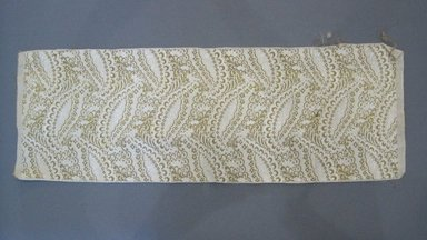 Textile Swatch, 1950s to 1960s. Cotton, metallic thread, 20 3/4 x 7 1/4 in. (52.7 x 18.4 cm). Brooklyn Museum, Gift of Mrs. Robert G. Olmsted and Constable MacCracken, 69.149.80.55