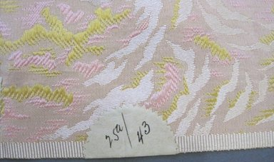 Textile Swatch, 1950s to 1960s. Silk, 58 1/2 x 21 1/2 in. (148.6 x 54.6 cm). Brooklyn Museum, Gift of Mrs. Robert G. Olmsted and Constable MacCracken, 69.149.80.59