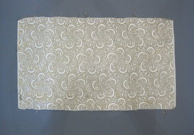Textile Swatch, 1950s to 1960s. Cotton, metallic thread, 20 x 11 3/4 in. (50.8 x 29.8 cm). Brooklyn Museum, Gift of Mrs. Robert G. Olmsted and Constable MacCracken, 69.149.80.85