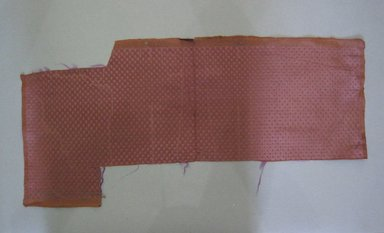 Textile Swatch, 1950s to 1960s. Silk, 22 1/2 x 10 1/2 in. (57.2 x 26.7 cm). Brooklyn Museum, Gift of Mrs. Robert G. Olmsted and Constable MacCracken, 69.149.81.81