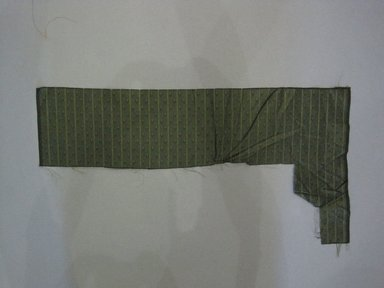 Textile Swatch, 1950s to 1960s. Silk, 20 x 10 3/4 in. (50.8 x 27.3 cm). Brooklyn Museum, Gift of Mrs. Robert G. Olmsted and Constable MacCracken, 69.149.81.99