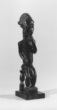 Brooklyn Museum: Male Figure Seated on a Stool