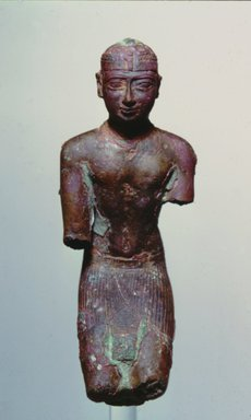Egyptian. Statuette of a Kushite King, ca. 712-653 B.C.E. Bronze, gilded, 4 7/16 x 1 7/8 x 1 7/8 in. (11.2 x 4.7 x 4.8 cm). Brooklyn Museum, Charles Edwin Wilbour Fund, 69.73. Creative Commons-BY