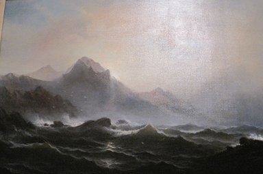 James Hamilton (American, 1819-1878). Seascape, ca. 1865. Oil on canvas, 29 15/16 x 45 in. (76.1 x 114.3 cm). Brooklyn Museum, Dick S. Ramsay Fund, 70.103