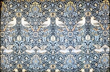 William Morris (English, 1834-1896). Pair of Window Hangings, ca. 1878-1879. Hand-dyed woolen yarns, 61 x 71 in. (154.9 x 180.3 cm). Brooklyn Museum, H. Randolph Lever Fund, 70.139a-b. Creative Commons-BY