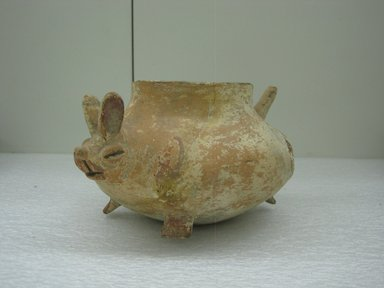 Huastec. Rabbit Effigy Jar, circa 1250-1520. Ceramic, pigment, 4 1/2 x 8 3/8 in. (11.4 x 21.3 cm). Brooklyn Museum, Gift of Mr. and Mrs. Cedric H. Marks, 70.154.12. Creative Commons-BY