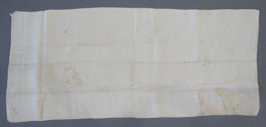 American. Pillow Slip, early 19th century. Linen, 36 x 15 1/2 in. (91.4 x 39.4 cm). Brooklyn Museum, Gift of Theodora Briggs, 70.163.7. Creative Commons-BY