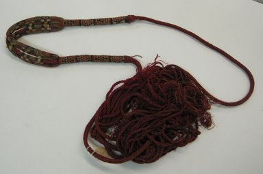 Inca (attrib by Nobuko Kajatani, 1993). Sling, 1000-1532. Cotton, camelid fiber, 103 1/8 x 1 9/16in. (262 x 4cm). Brooklyn Museum, Gift of Ernest Erickson, 70.177.59. Creative Commons-BY