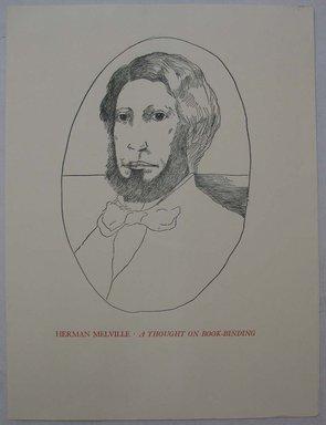 Leonard Baskin (American, 1922-2000). Ephemera, Herman Melville, mid 20th century. Print, Sheet: 12 x 9 in. (30.5 x 22.8 cm). Brooklyn Museum, Gift of Leonard Baskin, 70.33.14. © Estate of Leonard Baskin, Courtesy Galerie St. Etienne, New York