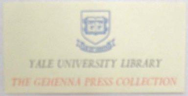 Leonard Baskin (American, 1922-2000). Ephemera, Book Plate. Print, Sheet: 1 3/8 x 2 3/4 in. (3.5 x 7 cm). Brooklyn Museum, Gift of Leonard Baskin, 70.33.6. © Estate of Leonard Baskin, Courtesy Galerie St. Etienne, New York