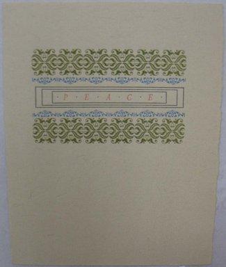 Leonard Baskin (American, 1922-2000). Ephemera, Greeting Card, 1968. Print, Sheet: 5 3/8 x 4 1/4 in. (13.6 x 10.8 cm). Brooklyn Museum, Gift of Leonard Baskin, 70.33.8. © Estate of Leonard Baskin, Courtesy Galerie St. Etienne, New York