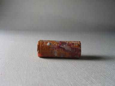 Ancient Near Eastern. Cylinder Seal, 15th-14th century B.C.E. Jasper, Diam. 11/16 x 1 11/16 in. (1.7 x 4.3 cm). Brooklyn Museum, Twentieth-Century Fox Fund, 71.115.16. Creative Commons-BY
