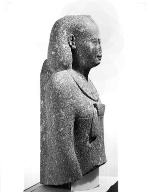 Egyptian Man in a Persian Costume, ca. 343-332 B.C.E. Granite, 31 1/8 x 17 1/2 x 11 1/8 in., 134.26kg (79 x 44.5 x 28.3 cm, 296 lb.). Brooklyn Museum, Gift of Mr. and Mrs. Thomas S. Brush, 71.139. Creative Commons-BY