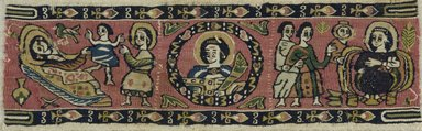 Coptic. Textile of Tapestry Weave, 7th-8th century C.E. Flax, wool, 3 1/2 x 10 7/8 in. (8.9 x 27.6 cm). Brooklyn Museum, Charles Edwin Wilbour Fund, 71.140. Creative Commons-BY