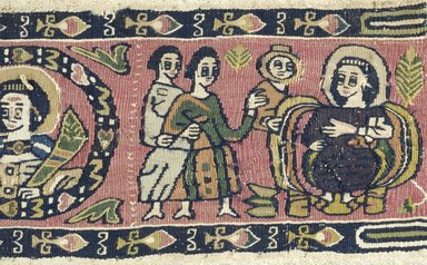 Coptic. Textile of Tapestry Weave, 7th - 8th century C.E. Flax, wool, 3 1/2 x 10 7/8 in. (8.9 x 27.6 cm). Brooklyn Museum, Charles Edwin Wilbour Fund, 71.140. Creative Commons-BY