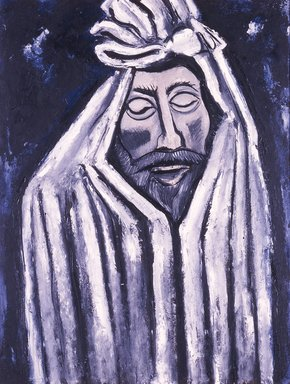Marsden Hartley (American, 1877-1943). The Last Look of John Donne, 1940. Oil on academy board, 28 1/8 x 22 in. (71.4 x 55.9 cm). Brooklyn Museum, Gift of Mr. and Mrs. Milton Lowenthal, 71.201. © Estate of Marsden Hartley, Yale University Committee on Intellectual Property