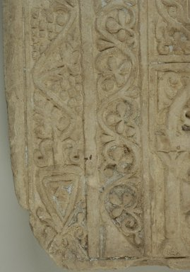 Coptic. Fragmentary Stela, 7th-8th century C.E. Limestone, traces of plaster, 35 7/16 x 18 7/8 x 2 9/16 in. (90 x 48 x 6.5 cm). Brooklyn Museum, Charles Edwin Wilbour Fund, 71.39.1. Creative Commons-BY