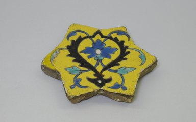 Star Tile, 16th-17th century. Ceramic, 6 5/8 x 15/16 x 6 1/2 x 6 3/4 in. (16.8 x 2.4 x 16.5 x 17.1 cm). Brooklyn Museum, Gift of Mr. and Mrs. Charles K. Wilkinson, 71.49.3. Creative Commons-BY