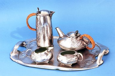 Archibald Knox (English, 1864-1933). Tea Service: Tray, ca. 1903. Hammered pewter, tray: 1 5/8 x 20 x 14 1/8 in. (4.1 x 50.8 x 35.9 cm). Brooklyn Museum, Alfred T. and Caroline S. Zoebisch Fund, 71.71a. Creative Commons-BY