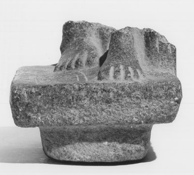 Lower Portion of a Statue. Granite Brooklyn Museum, Gift of Helmy F. Nashed, 72.128. Creative Commons-BY