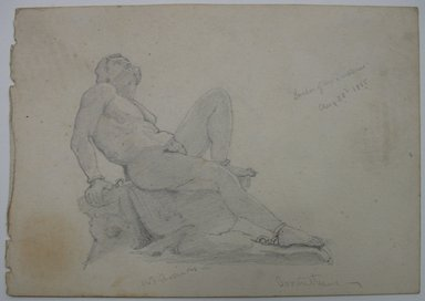 William Trost Richards (American, 1833-1905). Prometheus, August 28, 1855. Graphite on paper, Sheet: 4 5/16 x 6 1/8 in. (11 x 15.6 cm). Brooklyn Museum, Gift of Edith Ballinger Price, 72.32.11