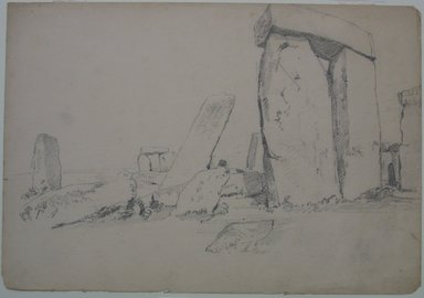 William Trost Richards (American, 1833-1905). Stonehenge, n.d. Graphite on paper, Sheet: 10 x 14 1/2 in. (25.4 x 36.8 cm). Brooklyn Museum, Gift of Edith Ballinger Price, 72.32.13