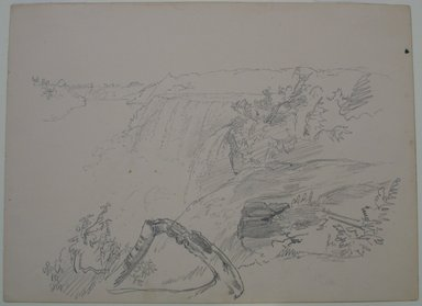 William Trost Richards (American, 1833-1905). Niagara Falls, n.d. Graphite on paper, Sheet: 9 3/16 x 12 1/2 in. (23.3 x 31.8 cm). Brooklyn Museum, Gift of Edith Ballinger Price, 72.32.19