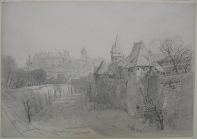 William Trost Richards (American, 1833-1905). Nürnberg, March 24, 1867. Graphite on medium, cream, wove paper (sketchbook page), Sheet: 6 15/16 x 10 1/16 in. (17.6 x 25.6 cm). Brooklyn Museum, Gift of Edith Ballinger Price, 72.32.30