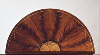 Card Table, ca.1790. Mahogany veneer with inlaid decoration, 29 x 35 7/8 in. (73.7 x 91.1 cm). Brooklyn Museum, H. Randolph Lever Fund, 73.14.3. Creative Commons-BY