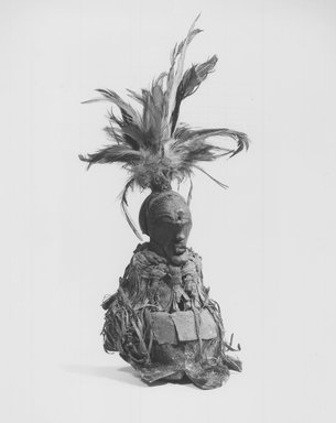 Songye. Power Figure (Nkishi), late 19th or early 20th century. Wood, hide, fur, fabric, feathers, pigment, 6 1/4 in. (15.9 cm) top of head to base. Brooklyn Museum, Gift of Gaston T. de Havenon, 73.179.13. Creative Commons-BY