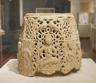 Top Section of a Water Jug, late 12th-early 13th century. Ceramic; earthenware, pierced decoration, 11 1/2 x 13 1/2 in. (29.2 x 34.3 cm). Brooklyn Museum, Gift of The Roebling Society, 73.30.6. Creative Commons-BY
