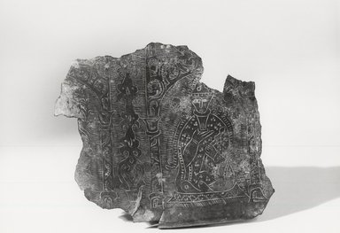 Byzantine (Turkish influence). Fragment from Basin. Bronze, 1 7/8 x 1 9/16 in. (4.8 x 4 cm). Brooklyn Museum, Gift of Marianne Maspero, 73.50. Creative Commons-BY