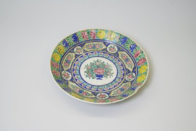 Plate, 19th century. Glazed enamel painted ceramic, 1 5/8 x 8 11/16 in. (4.2 x 22 cm). Brooklyn Museum, Gift of Mr. and Mrs. Charles K. Wilkinson, 74.102.1. Creative Commons-BY