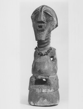 Songye. Power Figure (Nkishi), late 19th or early 20th century. Wood, 27 x 7 1/4 x 8 1/2 in. (68.5 x 18.5 x 21.6 cm). Brooklyn Museum, Gift of Mr. and Mrs. Gustave Schindler, 74.174. Creative Commons-BY