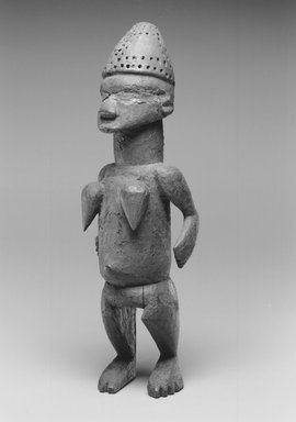 Salampasu. Standing Female Figure (Tulume), late 19th century. Wood, pigment, 14 3/16 x 4 5/16 x 3 9/16 in. (36 x 11 x 9 cm). Brooklyn Museum, By exchange and Designated Purchase Fund, 74.32. Creative Commons-BY