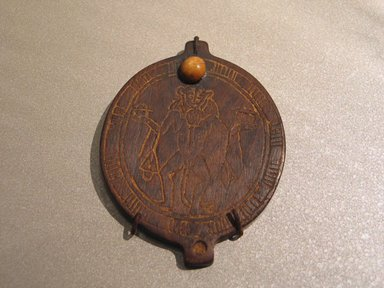 Brooklyn Museum: Lid of Circular Cosmetic Container with Birth God